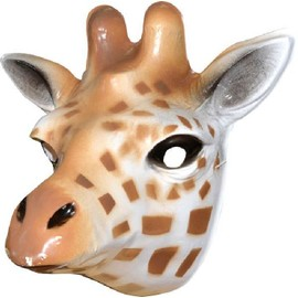 4 Masques Girafe Pvc Mixte 3d - 21 X 20 Cm
