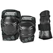 Set 3 Protections Powerslide 2 Genouill�res 1 Coudi�res Noir