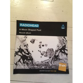 RADIOHEAD A MOON SHAPED POOL PLV FNAC PAPIER EPAIS 30 CM * 30CM