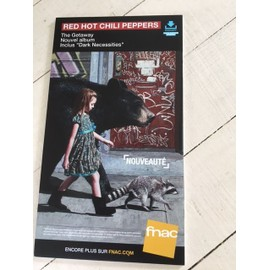 red HOT CHILI PEPPERS THE GETAWAY PLV FNAC 20CM *15 CM CARTON RIGIDE