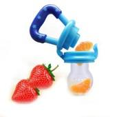 T�tine B�b� Nouveau-N� Sucette Biberon Silicone Nourriture Feeder Fruit Frais S�curit� M 1.2�*4�(2.9*10.4cm) Bleu