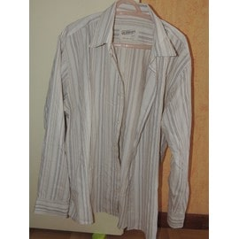 Chemise Beige Ray� Manche Longue Armand Thiery