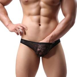Slip Dentelles Transparent M L Xl Xxl Homme Thong Man Underwear