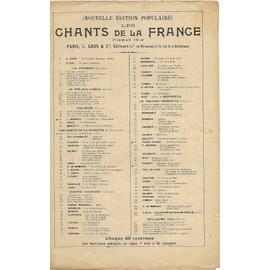 chants de la France 103-la coupe du roi de Thule - air