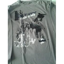 T-Shirt Tissaia Manches Longues Coton 14 Ans Gris