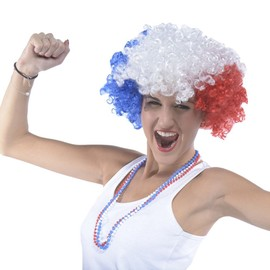 Perruque Afro Supporter France