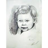 Portrait De Votre Photo. Dessin Au Crayon 10x15 Cm