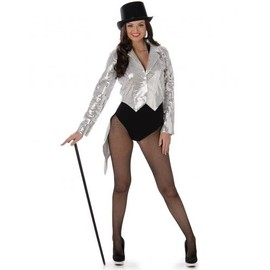 D�guisement Cabaret Argent Femme, Taille Large