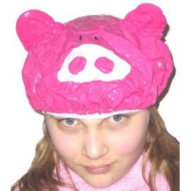 Bonnet De Bain Cochon Pvc