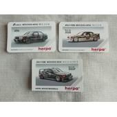 Lot De 3 Cartes Collector Mercedes 190 E