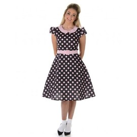 D�guisement Robe 50's � Pois Roses Femme, Taille Large