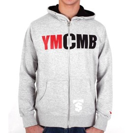 Hoodie Ymcmb Classic Gris-Noir-Rouge