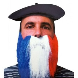 Barbe Supporter Bleu Blanc Rouge