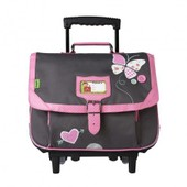 Cartable � Roulettes Tann's Collector Butterfly 2016 Trolley Cartable 38cm Polyester Gris