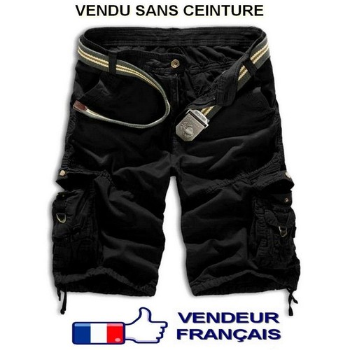 Short cargo <strong>dockers</strong> multi poches street wear urban casual décontracté bermuda pantacourt style armée skate roller freestyle vtt dh surf trek