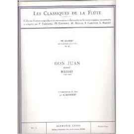 Ph. Gaubert Les Classiques de la Flûte N° 41 : DON JUAN Menuet (flûte et piano)
