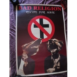 affiche BAD RELIGION recipe for hate