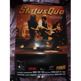affiche STATUS QUO pictures 40 years of hits
