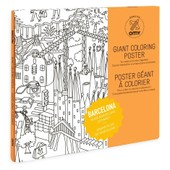 Poster � Colorier 100x70cm Barcelone - Omy
