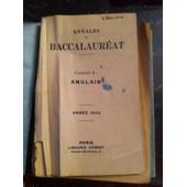 Annales Du Baccalaureat Anglais 1943 de Divers