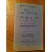 Precis De Science Et Legislation Financieres de Louis Trotabas
