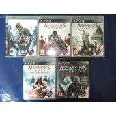 Lot Assassin's Creed 1 + 2 + 3 + Brotherhood + Revelations Pour Console Ps3 Playstation 3 Vf