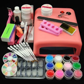 Kit Manucure Ongles 36w Uv Lampe Couleur Uv Gel Limes � Ongles Outils