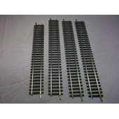 Rail Droit Maillechort Code 100 (Lot De 4 Rails) (3x Ref 4402 229mm + 1x Ref 4404 204mm) Ho