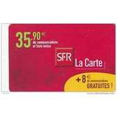 T�l�carte Sfr La Carte - 35.90 Euros + 8 Euros Gratuites