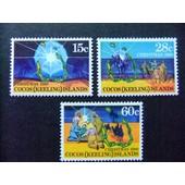 Cocos Islas Keeling 1980 Noel Navidad Yvert N� 53 / 55 ** Mnh