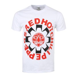 T-shirt Red Hot Chili Peppers RHCP Aztèque Homme Blanc
