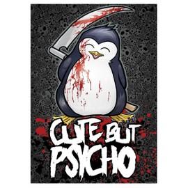 Psycho Penguin Mini Poster 32 x 44 cm Cute But Psycho Plastifié
