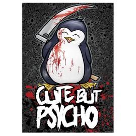 Psycho Penguin Mini Poster 32 x 44 cm Cute But Psycho