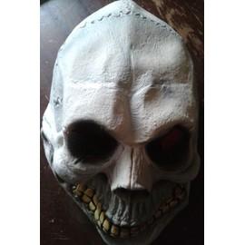 Masque Deux Trous Yeux Plastique Motif T�te De Mort Cr�ne Halloween Jeu Vid�o Cosplay Costume Taille Adulte