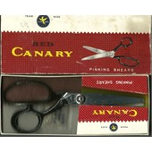 Ciseaux � Cranter Red Canary Pinking Shears Taille 8