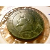 Pi�ce Napol�on Iii Second Empire 10 Centimes W T�te Nue Barre