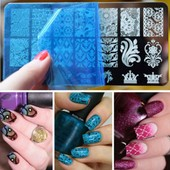 Ebuy� 10 X Plaque Tampon Ongles Nail Art Stamping Pochoir Images Decor
