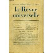 La Revue Universelle Tome 44 N�22 - Maurice Barr�s. Cahiers In�dits (1902-1903).Jacques Bainville. Napol�on. � L'ouvrage De Tilsit. Ren� S�hwob. Les Verri�res De Notre-Dame De Chartres. ...