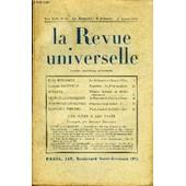 La Revue Universelle Tome 44 N�19 - Ren� Benjamin. La Sorbonne Et L'homme Libre.Jacques Bainville. Napol�on : Le Foss� Sanglant.Dussane. Th��tre Humain Et Th��tre M�canique. Le Cour ...