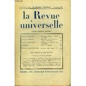 La Revue Universelle Tome 44 N�20 - Prince De B�low. M�moires In�dits. � Apr�s La Chute. Jacques Copeau. Souvenirs Du Vieux-Colombier (1913-1924). Jacques Bainville. Napol�on.� Austerlitz ...