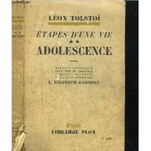 Etapes D'une Vie - Tome Ii - Adolescence de TOLSTOI LEON