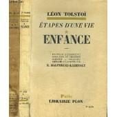 Etapes D'une Vie - 2 Volumes - Tomes I+Ii de TOLSTOI LEON