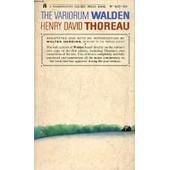 The Variorum Walden de THOREAU HENRY DAVID