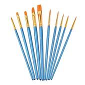 10pcs Set Pinceaux De Peinture Pinceaux Pour Peinture Acrylique Aquarelle