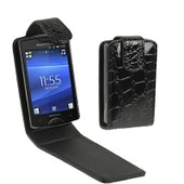 Sony Ericsson St15i Coque Housse Cuir Pu Noir