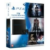 Mega Pack Ps4 1 To + Uncharted 4 + Bloodborne + Heavy Rain & Beyond Collection