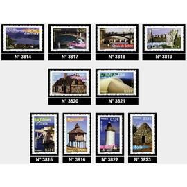 france 2005, très belle série complète la france à voir, portraits de régions, très beaux exemplaires 3814, 3815, 3816, 3817, 3819, 3820, 3821, 3822, 3823, neufs** luxe