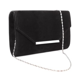 Anladia Soiree Sac A Main Besace Bandouliere Sacoche Faux Suede Bal Metal D�cor