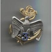 Militaria Insigne Pucelle 3�me R�giment De Marine Bazeille Arthus Bertrand Pour Les �ditions Atlas