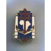 Militaria Insigne Pucelle 3�me R.A.Ma R�giment Artillerie De Marine / Arthus Bertrand Pour Les �ditions Atlas
